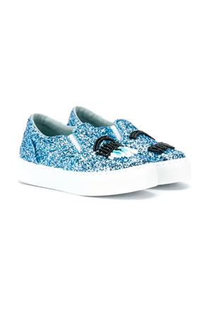 LIGHT BLUE SLIP-ON GLITTER FERRAGNI KIDS CHIARA FERRAGNI KIDS | 12 | CFB027CELESTE