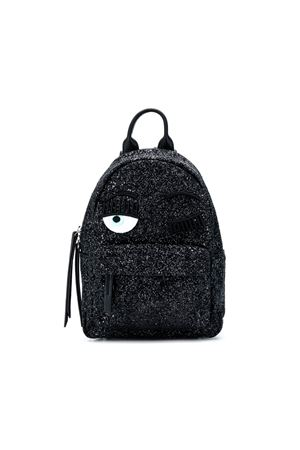 BLACK BACKPACK FLIRTING CHIARA FERRAGNI KIDS CHIARA FERRAGNI KIDS | 279895521 | CFZ004NERO
