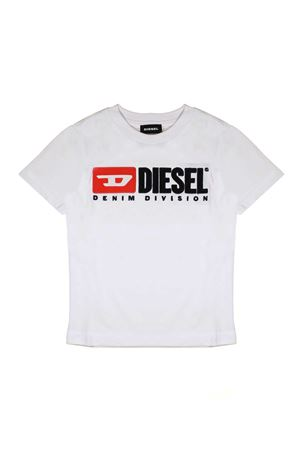 WHITE T-SHIRT WITH LOGO DIESEL KIDS TEEN DIESEL KIDS | 8 | 00J47V00YI9K100T