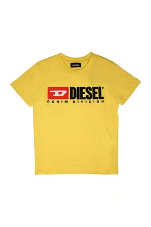 YELLOW T-SHIRT WITH LOGO DIESEL KIDS DIESEL KIDS | 8 | 00J47V00YI9K25C