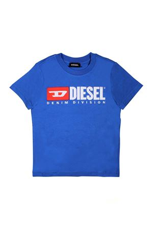 ROYAL BLUE T-SHIRT WITH DIESEL KIDS LOGO DIESEL KIDS | 8 | 00J47V00YI9K89ET