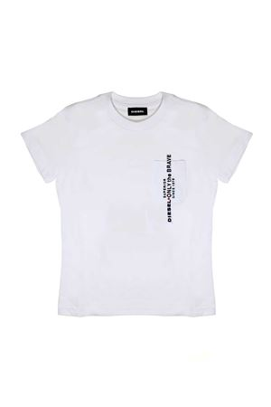 WHITE T-SHIRT WITH POCKET BY DIESEL KIDS DIESEL KIDS | 8 | 00J47X00YI9K100