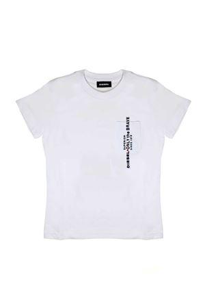 WHITE T-SHIRT WITH POCKET BY DIESEL KIDS TEEN DIESEL KIDS | 8 | 00J47X00YI9K100T