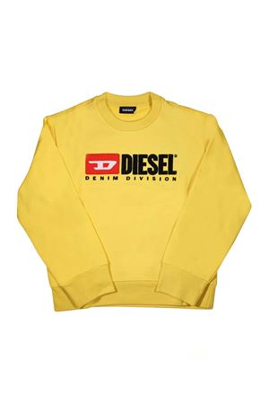 YELLOW DIESEL KIDS SWEATSHIRT WITH PRINTED LOGO DIESEL KIDS | -108764232 | 00J48E0IAJHK25C