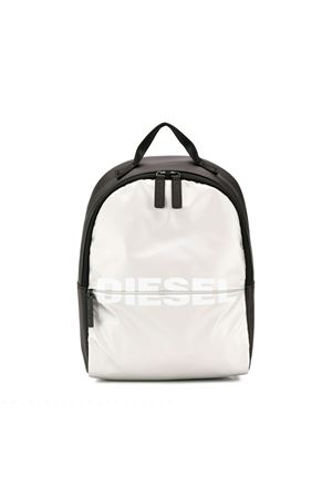 WHITE AND BLACK BABY DIESEL KIDS BACKPACK  DIESEL KIDS | 279895521 | BX0000P1705H1145