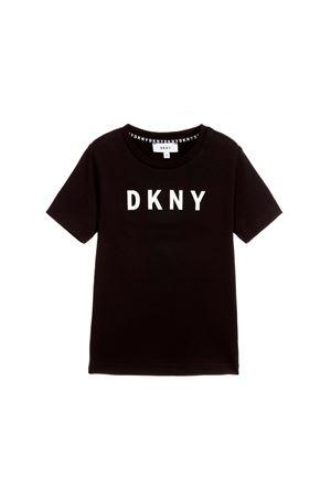 BLACK T-SHIRT DKNY KIDS TEEN DKNY KIDS | 8 | D25C3009BT