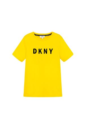 T-SHIRT GIALLA DKNY KIDS TEEN DKNY KIDS | 8 | D25C30535T