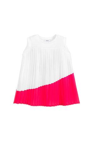 DKNY KIDS WHITE AND PINK GIRL DRESS  DKNY KIDS | 11 | D3271410B