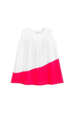 DKNY KIDS WHITE AND PINK DRESS TEEN  DKNY KIDS | 11 | D3271410BT