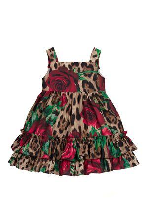 SILK CHIFFON DRESS WITH BRACES AND BOTTOM VOLANT  DOLCE E GABBANA KIDS Dolce & Gabbana kids | 11 | L21DF6HS5CMHKIRS