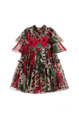 DRESS WITH VOLANT IN SILK CHIFFON DOLCE E GABBANA KIDS Dolce & Gabbana kids | 11 | L21DG1HS1Z0HKIRS