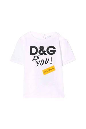 WHITE DOLCE E GABBANA KIDS T-SHIRT  Dolce & Gabbana kids | 8 | L2JTCRG7RUJHWK32