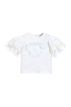 WHITE T-SHIRT DOLCE E GABBANA KIDS NEWBORN  Dolce & Gabbana kids | 8 | L2JTDGG7RXFW0800