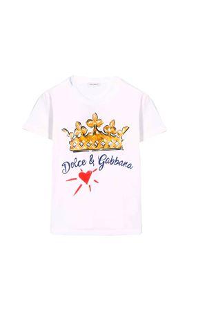 T-SHIRT BIANCA DOLCE E GABBANA KIDS Dolce & Gabbana kids | 8 | L4JT7NG7SFFHWZ47