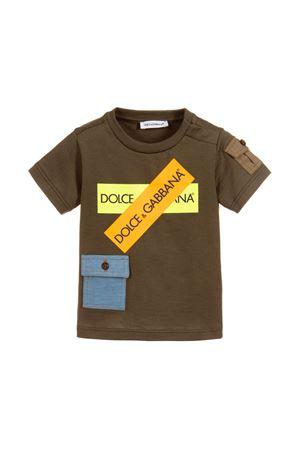 DOLCE E GABBANA KIDS MILITARY GREEN BABY T-SHIRT Dolce & Gabbana kids | 8 | L4JT9MG7RZCN4816