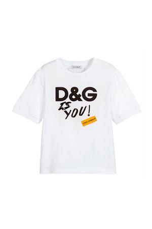WHITE DOLCE E GABBANA KIDS T-SHIRT  Dolce & Gabbana kids | 8 | L5JT9ZG7RUJHWK32