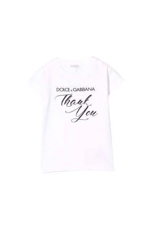 WHITE DOLCE E GABBANA KIDS T-SHIRT Dolce & Gabbana kids | 8 | L5JTCVG7RXHHWK65