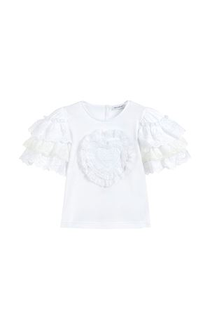 WHITE T-SHIRT CORREDO SWEET AND GABBANA KIDS GIRL  Dolce & Gabbana kids | 8 | L5JTDGG7RXFW0800