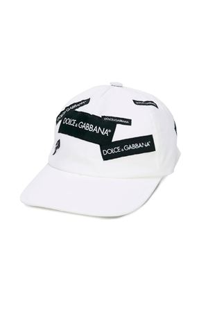 WHITE HAT FOR BOY WITH VISOR DOLCE E GABBANA KIDS  Dolce & Gabbana kids | 75988881 | LB4H51G7RSCW0800