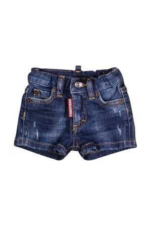 SHORTS IN DARK DENIM DSQUARED2 KIDS FOR BOY DSQUARED2 KIDS | 30 | DQ00WGD00TGDQ01