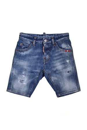 14aab1d41d4b BERMUDA IN DENIM SCURO DSQUARED2 KIDS DSQUARED2 KIDS