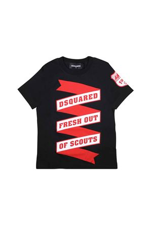 BLACK T-SHIRT DSQUARED2 KIDS TEEN  DSQUARED2 KIDS | 8 | DQ039ZD00TJDQ900T