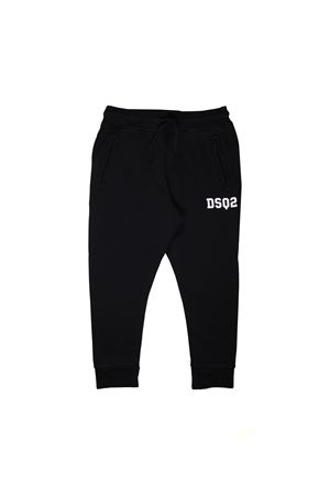 BLACK JOGGING PANTS DSQUARED2 KIDS  DSQUARED2 KIDS | 9 | DQ03ARD00MTDQ900