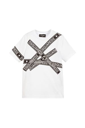 WHITE T-SHIRT DSQUARED2 KIDS TEEN  DSQUARED2 KIDS | 8 | DQ03EZD00MQDQ100T
