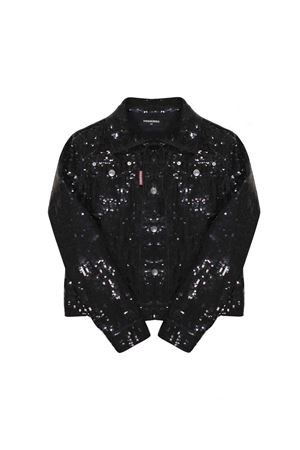 BLACK JACKET WITH PAILLETTES DSQUARED2 KIDS TEEN DSQUARED2 KIDS | 3 | DQ03HWD00UADQ900T
