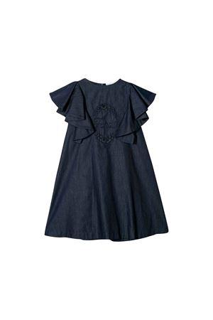 BLUE GIRL DRESS FENDI KIDS  FENDI KIDS | 11 | JFB24125BF0LQ0