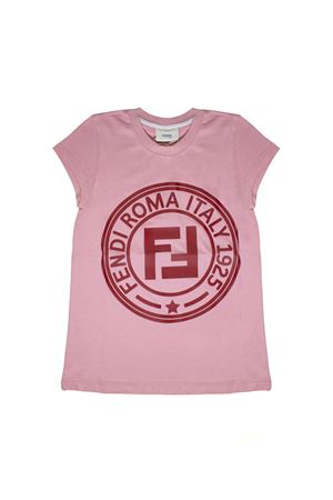 PINK T-SHIRT WITH FENDI KIDS RED LOGO FENDI KIDS | 8 | JFI1517AJF0AU4