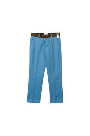 LIGHT BLUE BABY FENDI KIDS PANTS FENDI KIDS | 9 | JMF205A7LDF0QR0