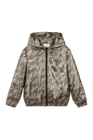 BEIGE TEEN LIGHTWEIGHT JACKET FENDI KIDS WITH LOGO