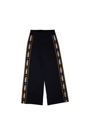 BLACK TROUSERS LARGE FENDI KIDS  FENDI KIDS | 9 | JUF0031L9F0QA1