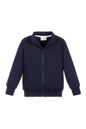 BLUE SWEATSHIRT WITH ZIP FENDI KIDS WITH BACK PRESS