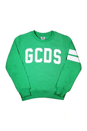 GREEN SWEATSHIRT WITH WHITE LOGO GCDS KIDS GCDS KIDS | -108764232 | 020036080