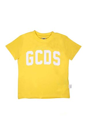 YELLOW T-SHIRT WITH WHITE LOGO GCDS GCDS KIDS | 8 | 020037020