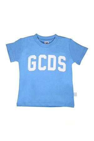T-SHIRT AZZURRA CON LOGO BIANCO GCDS GCDS KIDS | 8 | 020037051