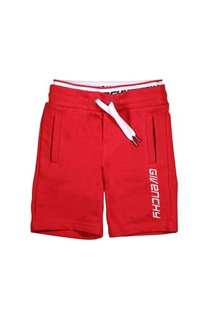 5fd8d8a10c13 RED BERMUDA FOR BOY GIVENCHY KIDS Givenchy Kids