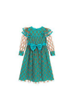TURQUOISE DRESS GIRL GUCCI KIDS  GUCCI KIDS | 11 | 540611ZAAVE3302