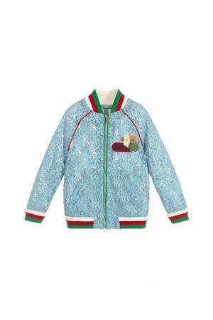 LIGHT BLUE JACKET GUCCI KIDS FOR GIRL GUCCI KIDS | 13 | 542998ZB4214803