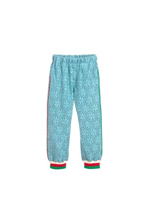 LIGHT BLUE JOGGING IN LACE MOSCHINO KIDS GUCCI KIDS | 9 | 543000ZB4214803