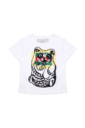 WHITE T-SHIRT FOR BOY GUCCI KIDS  GUCCI KIDS | 8 | 555675XJAPX9061