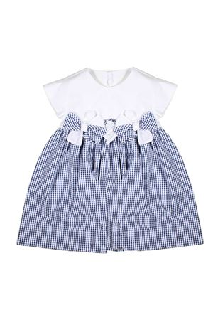 WHITE AND BLUE BABY DRESS IL GUFO JUNIOR IL GUFO | 11 | P19VM487C31060148