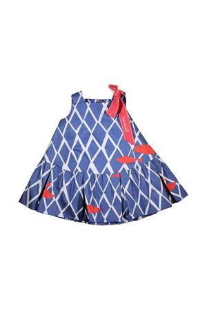 BLUE DRESS WITH WHITE STRIPES MI.MI.SOL GIRL MI.MI.SOL | 11 | EMF007ST1100C308