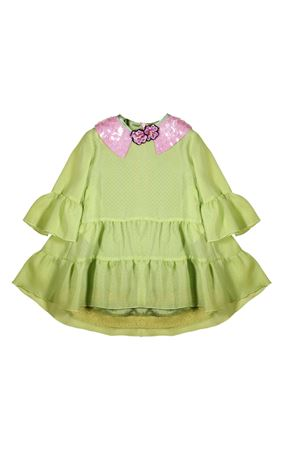 GREEN DRESS MI.MI.SOL GIRL  MI.MI.SOL | 11 | EMF010ST1401V101