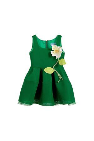 DARK GREEN DRESS GIRL MI.MI.SOL. KIDS MI.MI.SOL | 11 | EMF034ST3001V502