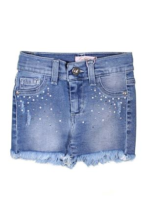 GIRL SHORTS IN DENIM MISS BLUMARINE JUNIOR Miss Blumarine | 30 | MBL0803BLU