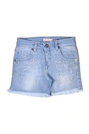 GIRL SHORTS IN DENIM MISS BLUMARINE Miss Blumarine | 30 | MBL0827JEANS