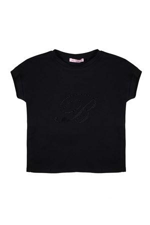 BLACK T-SHIRT LITTLE GIRL MISS BLUMARINE JUNIOR Miss Blumarine | 8 | MBL0881NERO